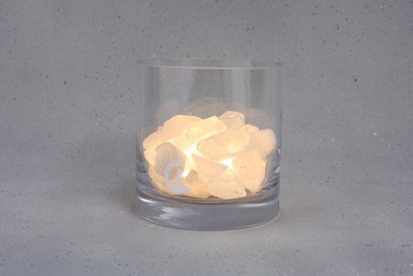 bergkristal lamp harmonie warm wit