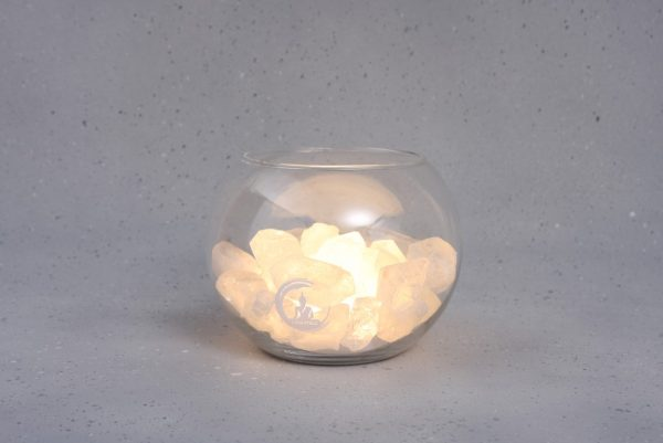 bergkristal lamp peace warm wit