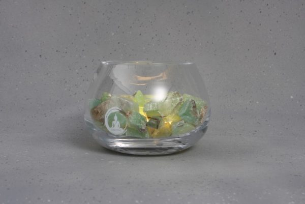 groene calciet lamp angel warm wit